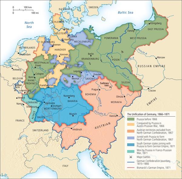 Map Of Zollverein Germany.German Nationalism And Unification En En En European History